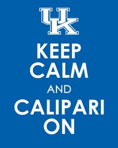 Keep Calm Kentucky Basketball 11 x 14 Poster by EntropyTradingCo, $13.99