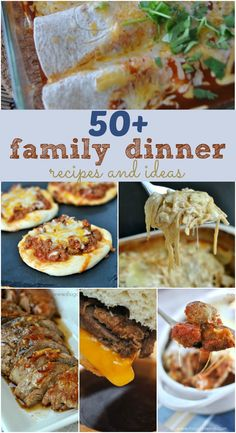 50+ Family Dinner Recipes - Shugary Sweets @shugarysweets