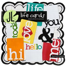 Simply adorable journaling cards. ADORE!