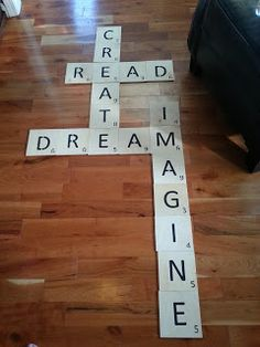 DIY Scrabble for your wall. I made this one for my classroom.
