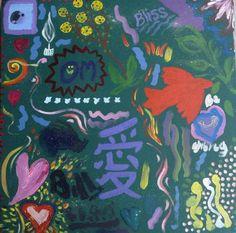 FOR SALE $50 +pp - LOVE - Fundraiser for AMURT Japan Earthquake (http://doodlejam.com.au/html/profile/doodle.php?doid=349) - vibrant group paintings using doodles #DoodleJam