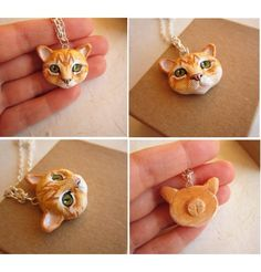 Cat Jewelry : Custom Cat Portrait Necklacehttp://pinterest.com/pin/421790321321098641/