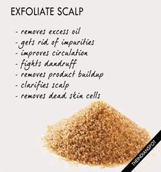 Show your scalp some extra love by using a scalp scrub. Exfoliating provides all the... #DiyFaceMoisturizer #ExfoliatingProducts Hair Scrub, Scalp Scrub, Itchy Scalp, Exfoliate Scalp, Hair Detox, Hair Health, Diy Hairstyles, Hairdos, Hair Hacks