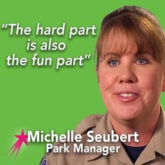 Michelle Seubert of #barrlakestatepark loves being a #parkranger, at times the job is demanding but the result of hard work is always worth it! She loves working with visitors and teaching them about the wildlife in the parks, such as the family of bald eagles that live there! @coparkswildlife @visitcolorado   #inspirationalquotes #motivationmonday #parkrangerlife #inspire #empower #educate #careergirls #careergoals