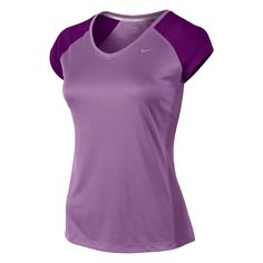 Nike   Nike Miler V Neck T Shirt Ladies   Ladies T-Shirts