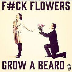 He has a beard ;)
