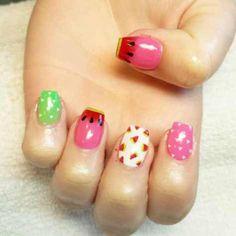 watermelon nail art for 2016 - style you 7 Watermelon Nail Art, Nail Time, Best Nail Art Designs, Art Nails, Cool Nail Art, Nail Polish, Tips, Beauty, Style