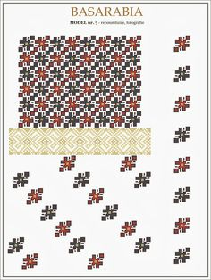 traditional Romanian pattern - north of Bessarabia Embroidery Sampler, Folk Embroidery, Learn Embroidery, Cross Stitch Embroidery, Embroidery Patterns, Cross Stitch Borders, Cross Stitch Designs, Cross Stitching, Cross Stitch Patterns
