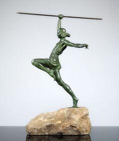 MAX LE VERRIER 1930s ART DECO Sculpture