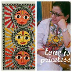 Madhubani painting on kurti by Ibadat