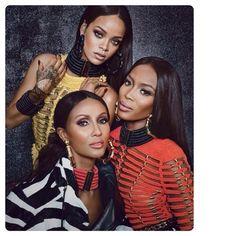 Rihanna, Iman and Naomi Rep Balmain