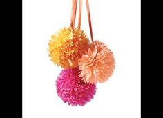Homemade tissue pomanders for church aisle decor?  But how to strike a balance between DIY and modern/sophisticated...