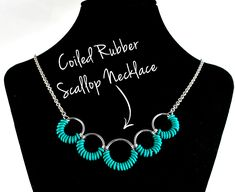 Free & Easy Jewelry Project: Coiled Rubber Scallop Necklace and Earrings from Blue Buddha Boutique