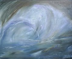 Tsunami, 100x81 cm., oil colors on canvas, 26th. Dec. 2004. Tsunami was painted 7 hours before the real Tsunami attacked the Aceh-Indonesia.