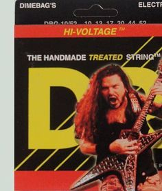 DR Strings Electric Guitar Strings, Dimebag Darrell Signature, Treated Nickel-Plated, 10-52 by DR Strings. $7.39. DR Dimebag Signature on Hex Core Electric Medium Heavy 10-52. Save 50% Off!