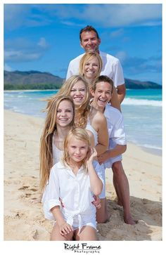 Com – oahu family portrait photography at waimanalo beach, hawaii. Family Beach Portraits, Family Beach Pictures, Family Portrait Photography, Framing Photography, Family Posing, Beach Photography, Family Beach Poses, Photography Blogs, Forest Photography