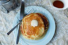 Mascarpone Pancakes - Serve with a mascarpone & lemon curd or honey sauce.. Yumm!
