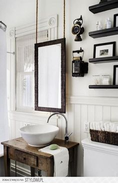 Like this look! No need to click. The link doesn't work. I just like the whites with the dark woods.
