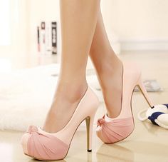 Adorable Bow Design High Heels Fash..
