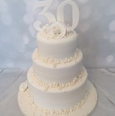 This but two tier maybe and no fondant, just the buttercream and maybe we could find those edible pearls or something? @katiewil87