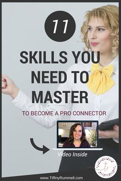 """11 Skills You Should Master to Become a Pro Connector Pin   Have you ever met someone that is such a """"people person"""" and you wish you could connect with others the way they do? If you are in network marketing, then the whole goal is to go out there and NETWORK with people. In order to do that, you have to be a great connector. Click now to read or """"pin"""" to save for later."""
