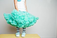Seriously, how much fun is this for a little girl? Sweetheart Pettiskirt by DreamSpunKids (via Etsy).