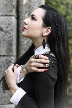 Model: Silky Blouse: Restyle Rings: @The Rogue + The Wolf Earrings: Cherryloco Jewellery Nail Art: Tatiana Gonçalves Lipstick: Lime Crime Welcometo Gothic and Amazing |www.gothicandamazing.org
