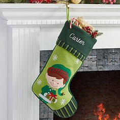 Make your home more festive this Christmas with the Personalized Christmas Stockings - Boy Elf. Find the best personalized Christmas gifts at PersonalizationMall.com