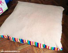 Almohadones gigantes o cuchas para perro 1 metro por 1 metro, medidas, colores y telas a elección  My Violet  Myvioletdesigns.com