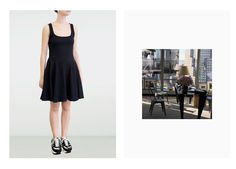 Black flared dress by Opening Ceremony