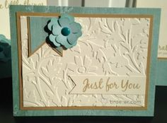 Close to my Heart Floral Card Kit using Seaside paper  Papercrafting Workshops/Kits   The Brae-er