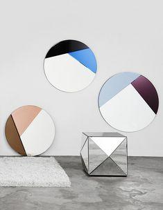 Mirrors – Home Decor : Maison & Objet 2016 : Miroirs Nouveau (Hugau Larsson) -Read More – Mirror Painting, Mirror Art, Verre Design, Glass Design, Decor Interior Design, Interior Decorating, Furniture Design, Decorating Ideas, Spiegel Design