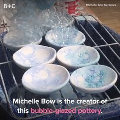 We're beyond mesmerized by bubble-glazed pottery. 😍🙏