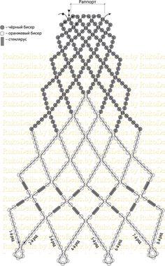 схема плетения колье-воротника