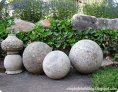 These Restoration Hardware inspired concrete garden spheres are the perfect way to keep your outdoor space looking classy instead of cluttered and cutesy. And did I mention you can make several for only $10?!?