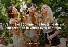 Friendship is like a bottle of wine, appreciate in value over time Pretty Quotes, Love Me Quotes, Life Quotes, French Phrases, French Quotes, Best Friends For Life, True Friends, Quote Citation, Message Quotes
