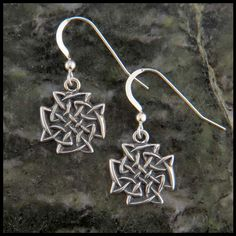 Sterling Silver Celtic Knot Earrings Item number: SW3107 Original designs © Stephen Walker Prices subject to change. Please call or email for more information at800.488.6347 or sales@walkermetalsmiths