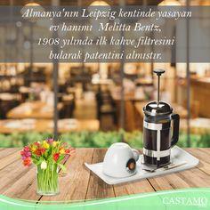 Almanya'nın Leipzig kentinde yaşayan ev hanımı Melitta Bentz, 1908 yılında ilk kahve filtresini bularak patentini almıştır. #kahve #coffee #filtrekahve #kahvekeyfi #almanya #biliyormuydunuz
