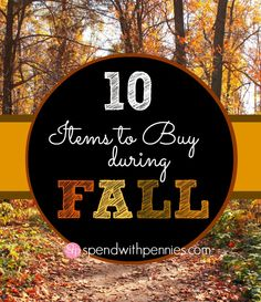10 Items to Buy During Fall!