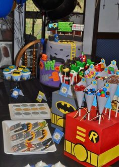 Super Heroes Birthday Party Ideas | Photo 22 of 24 | Catch My Party