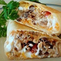 Crispy Southwest Chicken Wraps-These take some time to make, but they are delicious!  Very filling, too!  A+
