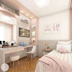 Room Design Bedroom, Girl Bedroom Designs, Room Ideas Bedroom, Small Room Bedroom, Home Room Design, Girls Bedroom, Bedroom Decor, Childrens Bedroom, Bedroom Lighting