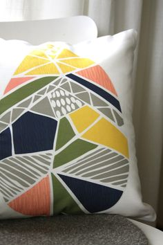 Raindrop Removable Throw Pillow Cover by leahduncan on Etsy, $38.00