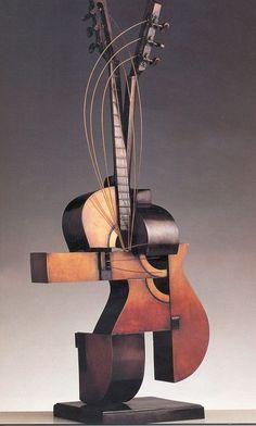 "VOTRE ART: ""Musical Instruments"" - Free Standing Bronze Sculptures by Armand Pierre Fernandez Bronze Sculpture, Wood Sculpture, Sculptures, Cubist Sculpture, Art Game Of Thrones, Nouveau Realisme, Instalation Art, Cubism Art, Guitar Art"