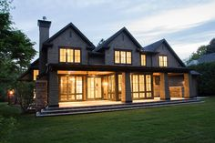 New Home Build - Exterior Porch & Fireplace, Oakville | whitehallhomes.ca