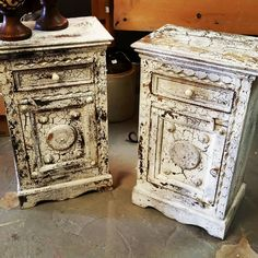 Distressed Side Tables.  Great Storage! https://instagram.com/p/8lRQXYrG8v/#utm_sguid=126328,aa6e60ec-5c4b-44e4-0b5c-1c7c2868d486