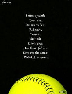 Funny Softball Quotes, Softball Cheers, Baseball Quotes, Softball Pictures, Girls Softball, Softball Players, Softball Stuff, Softball Things, Baseball Live