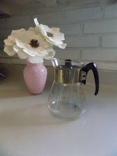 Pyrex Vintage Glass Atomic Coffee Carafe 4 by TheThriftyAnemone