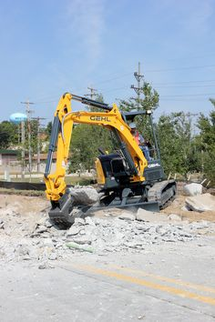 Gehl's Z45 compact excavator has a digging depth of 12 feet, 0.9 inches and a bucket force of 6,724 pounds.
