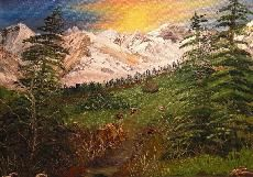Savoyer Berge / Oil on Canvas  painted by Nati Merlin
